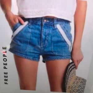 Free People Lace Trimmed Pocket Shorts 25